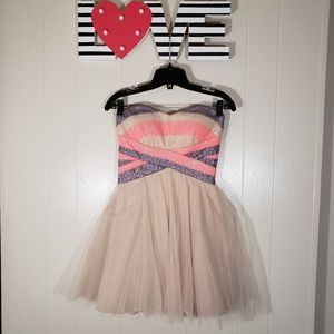 TWEEZE ME Tulle and Sequin Strapless Dress Size 5